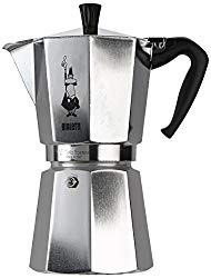 Bialetti 1166 Moka Express Export Espresso Maker, Silver