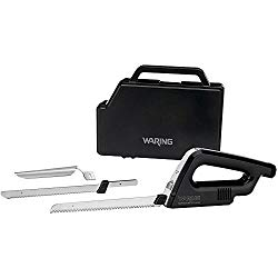 Cordless Lithium Electric Knife with 2 Blades and Storage Case (Waring EK120)