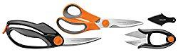 Fiskars 3 Piece Heavy-Duty, All-Purpose Fast-Prep Kitchen Shears Set, 510061-1001