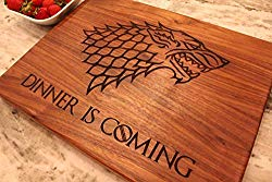 Game of Thrones Christmas Gift, Boyfriend gift, Dinner is Coming Cutting Board, Game of Thrones Merchandise