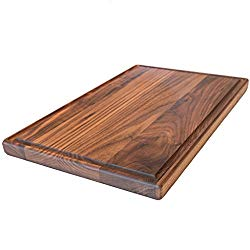 Large Walnut Wood Cutting Board by Virginia Boys Kitchens – 17×11 American Hardwood Chopping and Carving Countertop Block with Juice Drip Groove
