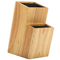 Mantello 2 Tier Universal Wood Knife Block Knife Holder Storage Organizer