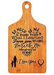 Mothers Day Gifts – Langxun Personalized Engraved Bamboo Cutting Board for Mothers Birthday Gift, Mon and Grandma Gift