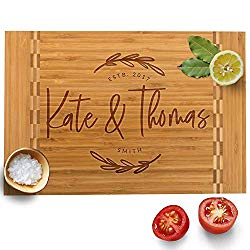 Personalized Cutting Board, 12 Designs & 3 Sizes, Bamboo Cutting Board, Wedding Gifts for Couple, Housewarming Gift & Kitchen Sign – Butcher Block Inlay Board #G