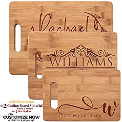 Personalized Cutting Board, Bamboo Cutting Board – Personalized Gifts – Wedding Gifts for the Couple, Engagement Gifts, Gift for Parents, Real Estate Agent Closing Gifts