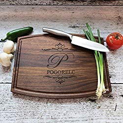Personalized Cutting Board – Walnut – Maple- House Warming – Custom Wedding Gift – Unique Gift