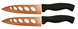 Set of 2 Copper Knives! 6.25″ Blade – As Seen on TV Never Sharpen Knives! Stays Sharp Forever! Effortless Clean Cuts Every Time! Ideal for Chopping, Dicing, Mincing, and More! (2)