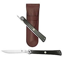 Shun DM5900 Higo Nokami Personal Folding Stainless Steel Steak Knife, Silver