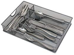 Storage Techngologies Mesh Small Cutlery Tray with Foam Feet – Kichen Organization/Silverware Storage