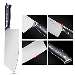 8 Inch Cleaver Knife, Chinese Butcher Knife, Professional Butcher Cleaver High-Carbon Stainless Steel with Ergonomic Handle for Meat & Vegetables