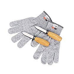 Oyster Shucking Set-Oyster Shucker Opener Tool Oyster Shucking Knife with Level 5 Protection Food Grade Cut Resistant Gloves(XL)