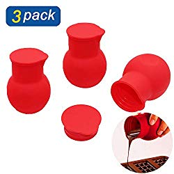 Atsky 3 Pack Silicone Melting Pot for Chocolate, Universal Baking Tools Nonstick Melting Kit in Microwave for Chocolate Butter Cheese and Caramel