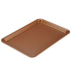 Ayesha Curry 46998 Nonstick Bakeware, Nonstick Cookie Sheet / Baking Sheet – 10 Inch x 15 Inch, Copper Brown