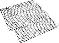 Checkered Chef Cooling Racks for Baking – Baking Rack Twin Set. Stainless Steel Oven and Dishwasher Safe Wire Cooling Rack. Fits Half Sheet Cookie Pan- set of 2