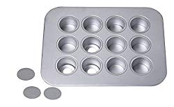 Chicago Metallic  12-Cup Mini-Cheesecake Pan, 14-Inch-by-10.75-Inch, silver – 77122