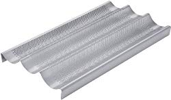 Chicago Metallic Commercial II Non-Stick Perforated Baguette Pan – 59609
