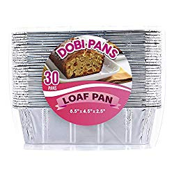 DOBI [30 Pack – 2 LB.] Loaf Pans – Disposable Aluminum Foil Bread Pans, Standard Size – 8.5″ X 4.5″ X 2.5″. Favorite Bread Tin Size for Homemade Cakes & Breads. Compatible w/ Roadpro Portable Stove