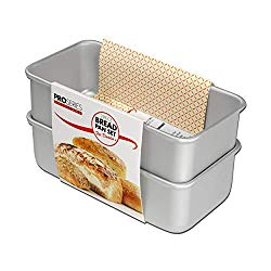 Fat Daddio's BP-SET Anodized Aluminum Bread Pan, 7.75 x 3.75 x 2.75 Inch, Set of 2, Silver