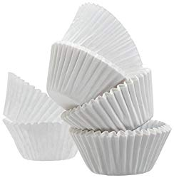 Green Direct Cupcake Liners – Standard Size Cupcake Wrappers to use for Pans or carrier or on stand – White Paper Baking Cups Pack of 500