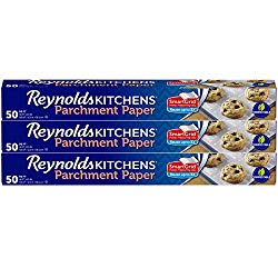 Reynolds Kitchens Parchment Paper Roll with SmartGrid – 3 Boxes of 50 Square Feet (150 Sq. Ft Total)
