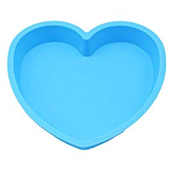 X-Haibei 8-inch Heart Shaped Cake Pan Chocolate Baking Tray Silicone Mold Valentine's Gift