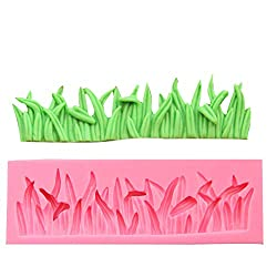 Efivs Arts Grass Shape Fence Silicone Mold Fondant Mold Cupcake Cake Side Decoration Tool