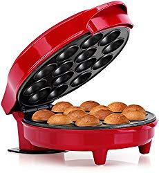 Holstein Housewares HF-09014R Fun Cake Pop Maker, Makes 14, Red