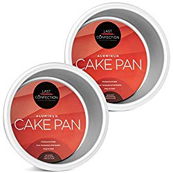 Last Confection 2-Piece Round Cake Pan Set – 4″ x 2″ Deep Aluminum Pans