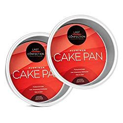 Last Confection 2-Piece Round Cake Pan Set – 6″ x 2″ Deep Aluminum Pans