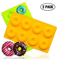 Mini Donut Pan& Bagel Pan,Suitable For Baking Full-Size Donuts And Bagels | 100% Food-Grade Donut Silicone Mold, And Non-Stick Pan,Good Heat Transfer, Easy to Clean, Baked Out The Perfect Donut Shape.