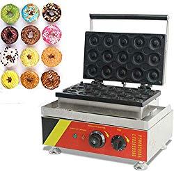 WINUS 110V Commercial Donut Maker Machine NonStick Doughnut Waffle Maker 15 Grids 1.5KW Kitchen Tool Mini Donut Backer Machine US Stock