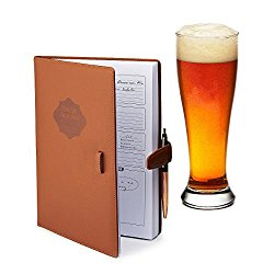 Home brew Journal for Craft Beer Homebrewers   Homebrew Logbook w/ space for 70+ recipes   Beer Glassware Reference, Beer Color Chart, Hops and Yeast Strain Chart  